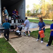 Louisiana churches provide shelter, distribute buckets and health kits